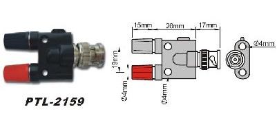 PTL-2159 Переходник BNC-гнездо