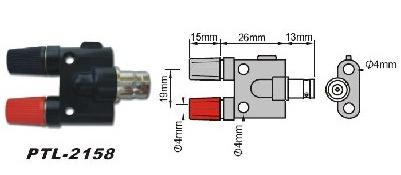 PTL-2158 Переходник BNC-гнездо