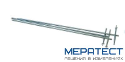 РЛПА.305177.004 - комплект штырей заземления из нержавеющей стали, длина 1 м, с сумкой, 4 шт.