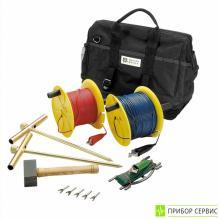 P01102022 - дополнительный 100м комплект для измерения сопротивления заземления. (2Т, 1х100м, 1х50м, 1х10м, сумка)